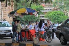 Uliczny restauracyjny Mumbai India fotografia stock