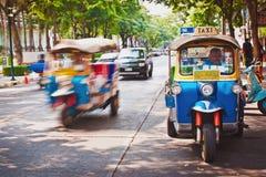 Uliczny ruch drogowy w Bangkok Tajlandia Fotografia Royalty Free