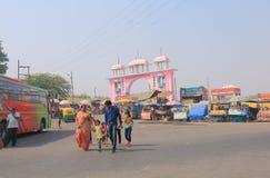 Uliczny rynek Agra India Obrazy Stock