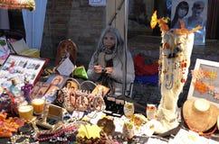 Uliczny rynek dla Halloweenowego wakacje Zdjęcia Stock