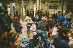 Uliczny rynek w Bacelona, Hiszpania zdjęcia stock