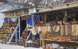 Uliczny rynek w Gruzja z różnorodność produktami rolnicy i rzemieślnicy Zdjęcie Stock