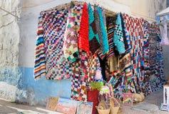Uliczny rynek w Medina Essaouira Maroko Obraz Stock