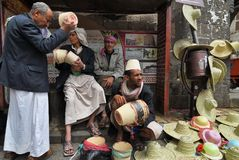 Uliczny rynek w Sanaa, Jemen Zdjęcia Royalty Free