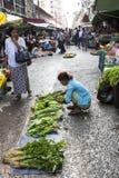 Uliczny rynek w Yangon zdjęcie royalty free