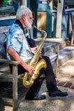 Uliczny saksofon Obraz Royalty Free