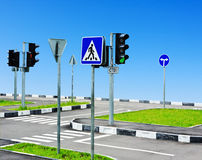 Uliczny skrzyżowanie i droga Obrazy Stock