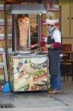 Uliczny sprzedawca kebabs indyk Obraz Royalty Free
