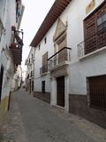 Uliczny stary de Granada Fotografia Stock