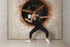 Uliczny taniec dziewczyny tancerz Zdjęcie Stock