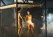 Uliczny teatr Ondadurto Teatro zdjęcia royalty free