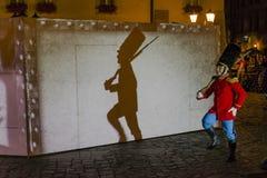Uliczny teatru festiwal w Krakow Zdjęcia Royalty Free