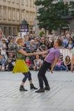 Uliczny teatru festiwal w Krakow Zdjęcie Royalty Free