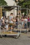 Uliczny teatru festiwal w Krakow Obrazy Royalty Free