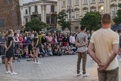 Uliczny teatru festiwal w Krakow Fotografia Royalty Free
