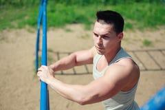 Uliczny trening, sportowa patrzeć Zdjęcia Stock
