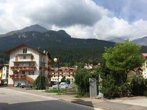 Uliczny widok Andalo, Włochy Obraz Stock