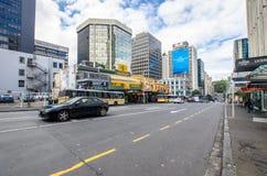 Uliczny widok Auckland miasto w Nowa Zelandia Obrazy Stock