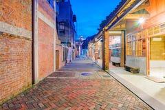 Uliczny widok Bopiliao dziejowy blok przy nocą Fotografia Stock
