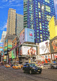Uliczny widok Broadway w times square Obrazy Royalty Free