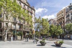 Uliczny widok, Eixample ćwiartka, Barcelona zdjęcia royalty free