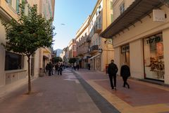 Uliczny widok Menton, Francja zdjęcie stock