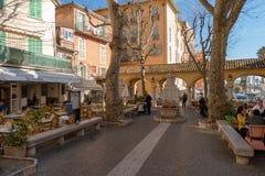 Uliczny widok Menton, Francja fotografia royalty free