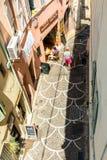 Uliczny widok od above w Antibes starym miasteczku Obraz Royalty Free