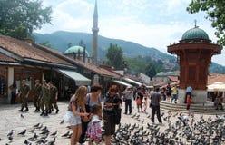 Uliczny widok od Sarajevo obrazy stock