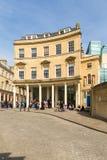 Uliczny widok starego, historycznego miasteczka skąpanie, Anglia, UK obrazy stock