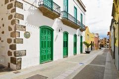 Uliczny widok Stary miasteczko Aguimes gran canaria Obraz Royalty Free