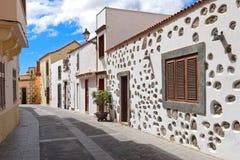 Uliczny widok Stary miasteczko Aguimes w Granie Canaria Obrazy Royalty Free