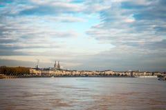 Uliczny widok stary miasteczko w borda mieście Obrazy Royalty Free