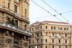 Uliczny widok stary miasteczko w Naples mieście Zdjęcia Royalty Free