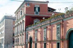 Uliczny widok stary miasteczko w Naples mieście Obraz Royalty Free