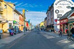 Uliczny widok Tromso, Norwegia fotografia royalty free