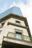Uliczny widok upwards budynek w Sofia, Bułgaria Zdjęcie Royalty Free