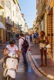 Uliczny widok w świętym Tropez, Południowy Francja Fotografia Royalty Free