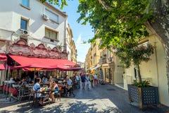 Uliczny widok w Antibes starym miasteczku, Francja Obraz Stock