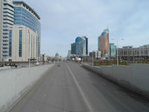 Uliczny widok w Astana Obrazy Stock