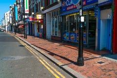 Uliczny widok w Eastbourne, Wschodni Sussex, UK fotografia royalty free