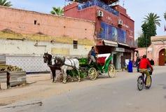 Uliczny widok w Marrakesh Zdjęcie Royalty Free
