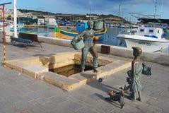 Uliczny widok w Marsaxlokk fotografia stock