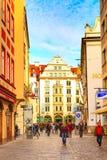 Uliczny widok w Monachium, Niemcy Zdjęcie Stock