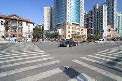 Uliczny widok w Nanchang mieście Zdjęcie Royalty Free