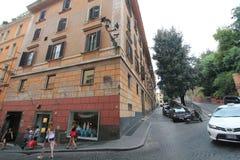 Uliczny widok w Rzym, Włochy Obrazy Royalty Free