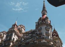 uliczny widok z budynkiem w Buenos Aires obraz stock