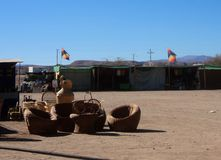 Uliczny widoku San Pedro de atacama pustyni chile Fotografia Royalty Free