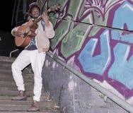 Uliczny wykonawca, muzyk w Miastowym Londyn/ Zdjęcie Stock