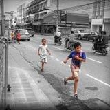 Uliczny życie Bangkok Tajlandia Zdjęcie Stock
